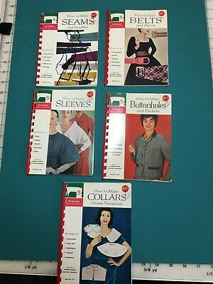 Vintage Singer sewing library - book 107 108 109 110 and 112 (Belts and Hems)