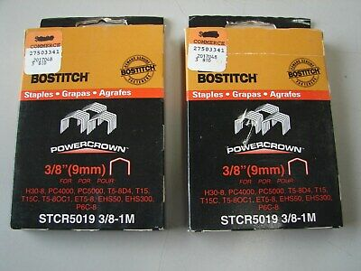 Stanley Bostitch ~ STCR5019-3/8-1M ~ 3/8'' ~ 2 Packs -2000 ~ Free s/h in USA