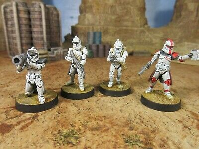 PAINTED & ASSEMBLED Phase I Clone Troopers Upgrade Expansion Star Wars Legion