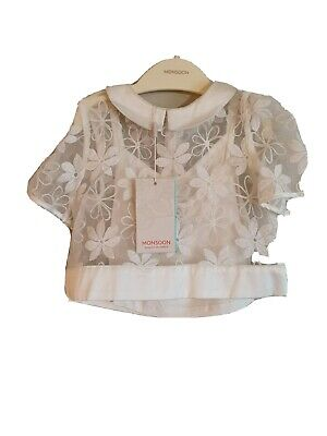 BNWT Monsoon Girl's Ivory Skirt and Blouse Set. Age 4