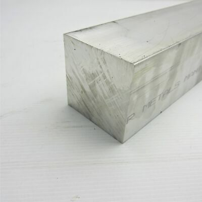 "3.25"" x 3.25"" Aluminum  6061 SQUARE Solid  FLAT BAR 6"" Long  sku K237"