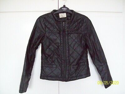 Girls Black Faux Leather Jacket by ZARA GIRLS age 13/14 excellent condition