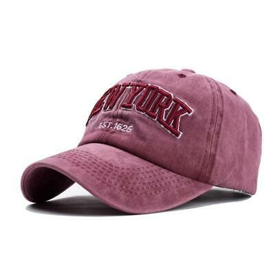 Baseball Cap NEW YORK Sand Washed 100% Cotton Hat For Women Men Dad Vintage NEW