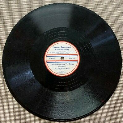 1942 Recording to Support War Effort - WW 2 - RARE !!!