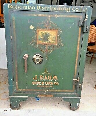 J. Baum Safe & Lock Company Antique Early 1900s.  Very Large Safe 28 X 41 x 27.5