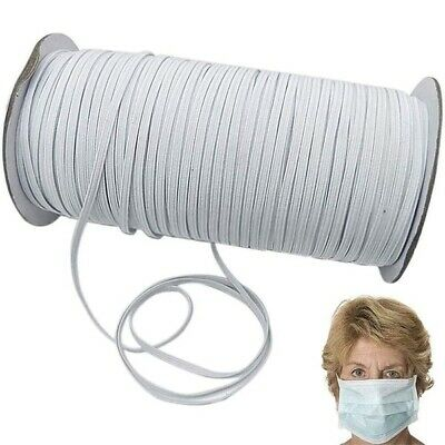 """30 Yards 1/4"""" Thin Elastic Band for face mask elastic string for DIY Face mask"""