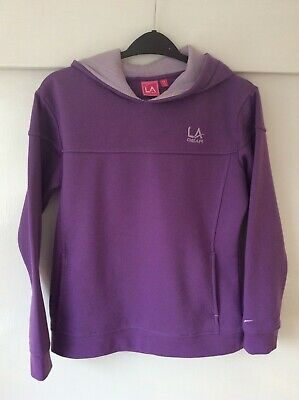 Girls LA Gear Hoodie. Age 13 years. Purple. Light Use Only.