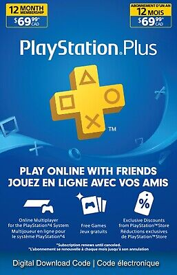 Sony PlayStation Plus 1years.