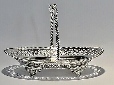 Stunning Antique Rare JW EPNS Fruit Basket Silver Plate With Handle