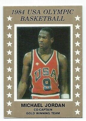 Michael Jordan 1984 Olympic USA Gold Team pre rookie basketball card Free Ship