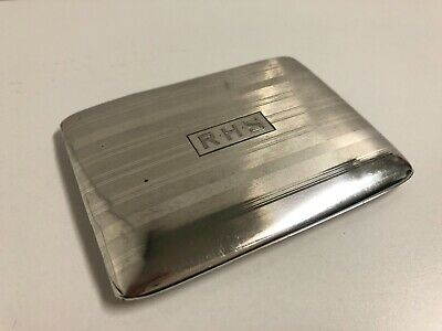 Vintage Hallmarked Sterling Silver Cigarette or Card Case - FATHERS DAY GIFT !