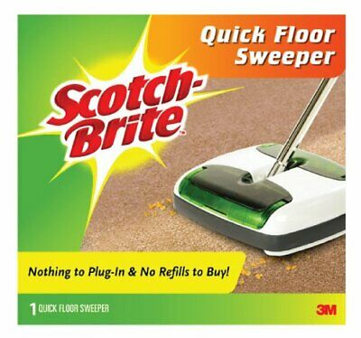 Scotch-brite Quick Floor Sweeper - Rubber - White (M007CCW)
