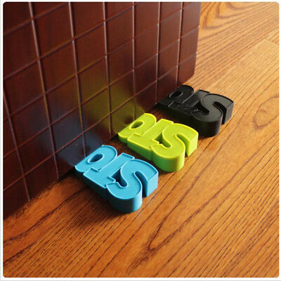 Silicone Door Stop Wedge Jammer Stopper Home Decor Kids Baby Safety YU