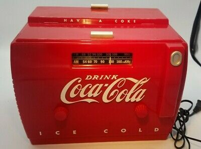 Coca Cola Radio Cassette Player OTR1949 Red Cooler Collectable 11x9x8 VINTAGE
