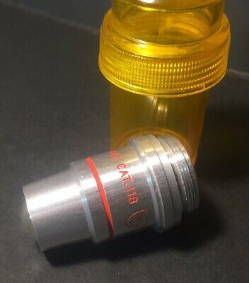 American Optical AO FLAT FIELD Microscope Objective 100x 1.10 Oil CAT. 118 Infty
