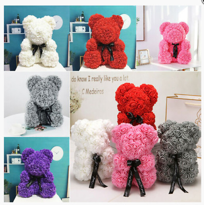 Rose Bear Teddy Bear Doll Foam Flowers Rose Birthday Wedding Valentine Day Gift
