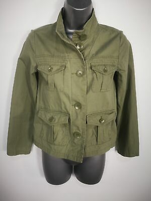 Girls Gap Kids Utility Style Khaki Olive Green Coat Size Kids Age 10 - 11 Years