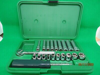 "Sk 21Pc 1/4"" Dr. Deep & Shallow Socket Set With Ratchet  #4922 (Made In Usa)"