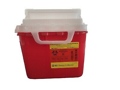 BD Sharps Collector 5.4Qt Red NIP Needle Container