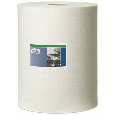 1ply White Prem Cleaning Cloth 1x106m 530137 Tork Genuine Top Quality Product