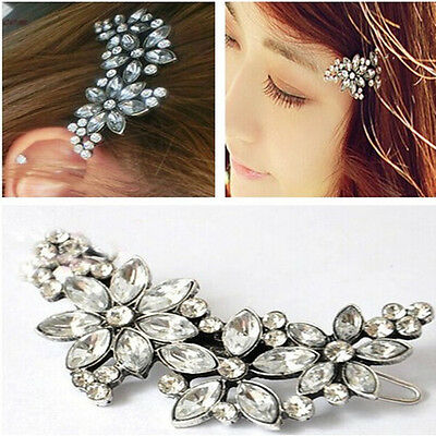 Bridal Wedding Flower Headband Comb Pin Crystal Chic Rhinestone Hair Clip