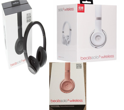 Authentic Beats by Dr. Dre Solo 3 Wireless On-Ear Headphones Rose Gold Black