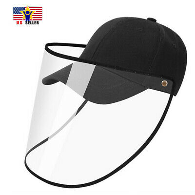 Detachable Protective Cap Shield Anti Spitting Saliva Cover Face Baseball Hat US