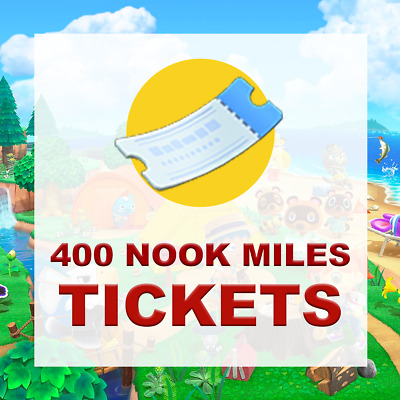 400 Nook Miles Tickets - Animal Crossing New Horizons - Quick Delivery