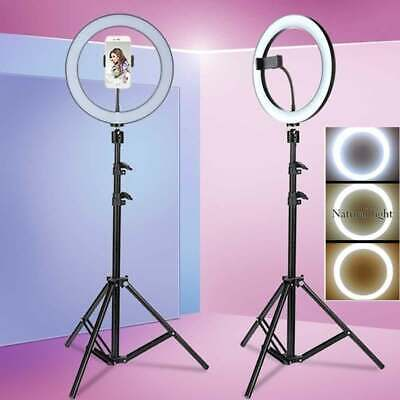 "8''/10"" LED Ring Light Studio Video Photo Lighting Lamp+1.2m Tripod+Phone Holder"