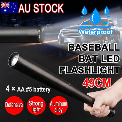 49CM Baseball Bat Flashlight Torch 3 Mode LED Lamp Security Tactical Waterproof