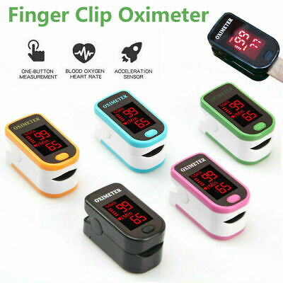 fingertip pulse oximeter oxygen saturation meter spo2 pr blood monitor finger UK