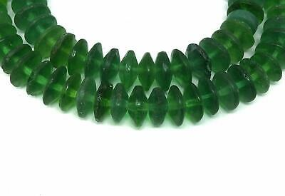 Vaseline Trade Beads Green Bohemian Africa 28 Inch