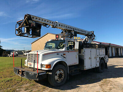 2000 International 4700 40' Telsta Cable Placing Bucket Basket Boom Truck Diesel