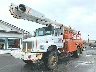 2004 Freightliner FL80 4x4 Altec 60' Over Center Material Handler Bucket Boom