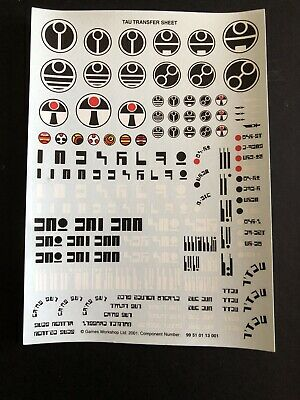 New Warhammer Tau Transfer Sheet Only For Miniatures