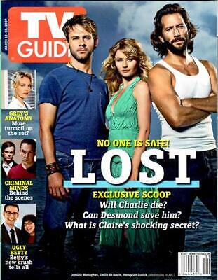 Collectible Tv Guide - Abc Lost Package - 4 New Cover Issues 2007 + Bonus Cd-Rom