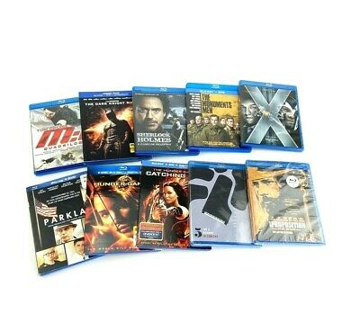 Lot Of 10 Blu-Ray Movies Includes Hunger Games, Sherlock Holmes, X-Men, Batman