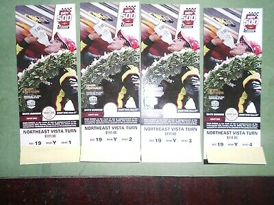 Four 2020 Indianapolis 500 Tickets