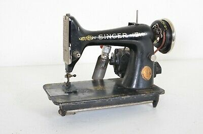 Antique SINGER Sewing Machine 1923 Model 99 K 99K Vintage Unrestored W/ Motor