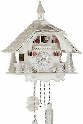 Black Forest House White 30cm- Cuckoo Clock Cuckoo Clock Real Wood New