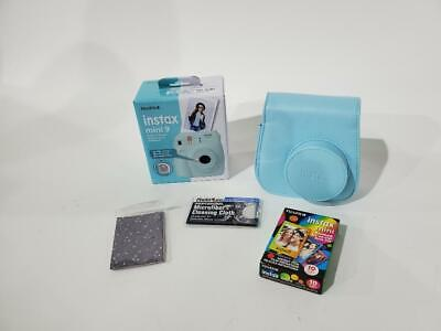 Fujifilm Instax Mini 9 Camera (Ice Blue) - Fujifilm Instax Mini Rainbow Film OB