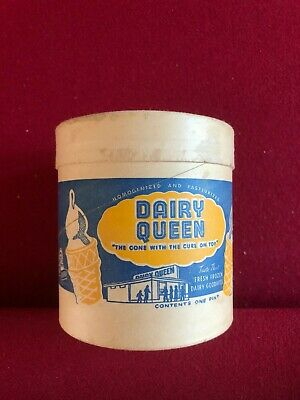 """1953, Dairy Queen, """"Un-Used"""" Ice Cream Container (1-Pint) Scarce / Vintage"""