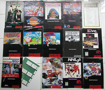 Super Nintendo SNES instruction manuals -- you pick -- free shipping (1)