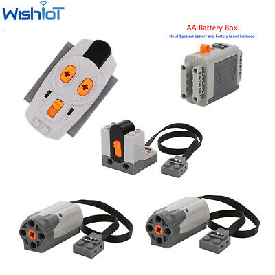 5pcs Power Functions M Motor Battery Box Remote Receiver SET Technic For LEGO