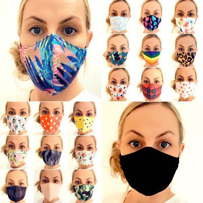 Face Mask Reusable Washable Protective Breathable Covering  100% Cotton One Size