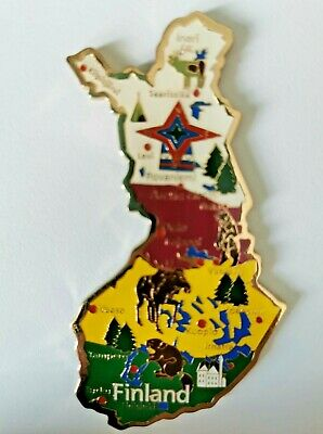 Finland Map Metal Tourist Holiday Travel Souvenir Collectable Gift Fridge Magnet