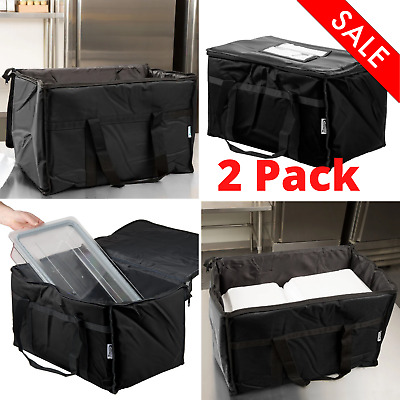(2 Pack) Rectangular Food Delivery Carriers Catering Bag Pan Carrier Outdoor New
