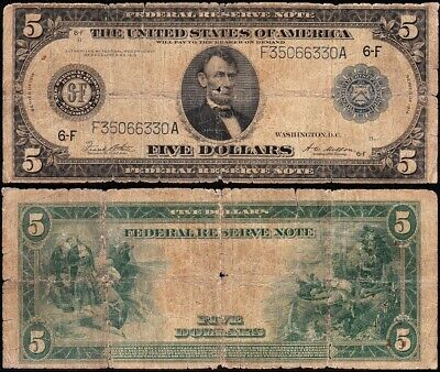 Affordable 1914 $5 Atlanta Federal Reserve Note! FREE SHIPPING! F35066330A