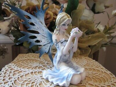 Fairyland Legends SPRING FAIRY figurine holding flowers by Pacific Giftware NEW