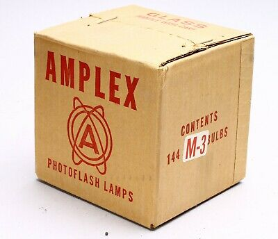 Amplex Lot Of 144 M3 Flash Bulbs Nos New Old Stock